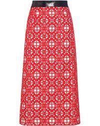 Teatum Jones | Florence Embroidered Merino Wool Skirt | Lyst
