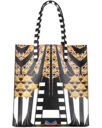 Givenchy - Small Stargate Printed Leather Tote - Lyst