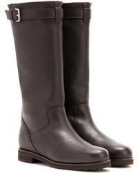 Loro Piana - Flatey Leather Boots - Lyst