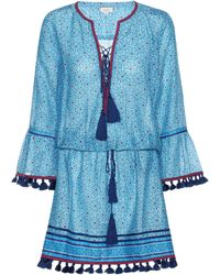 Talitha - Printed Cotton And Silk Dress - Lyst