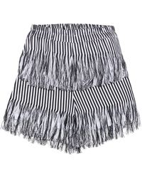 Prism - Fringed Cotton Shorts - Lyst