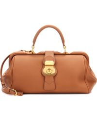 Burberry - The Trench Leather Bowling Bag - Lyst
