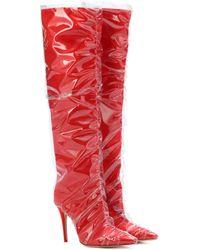 Jimmy Choo - X Off-white Elisabeth 100 Satin Boots - Lyst