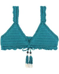 She Made Me - Amira Crochet Bikini Top - Lyst