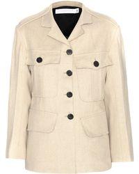Victoria Beckham - Jute And Silk-blend Jacket - Lyst