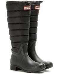 HUNTER - Stivali Original Tall Quilted Leg in tessuto tecnico e gomma - Lyst