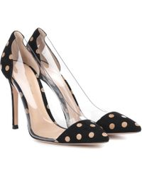 Gianvito Rossi - Exclusive To Mytheresa – Plexi Polka-dot Suede Pumps - Lyst