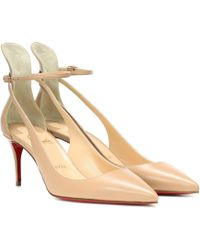 ff8a164a2d9b Christian Louboutin Degraspike Stud-Embellished Pumps in Natural - Lyst