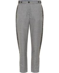 Rag & Bone - Checked Wool-blend Pants - Lyst