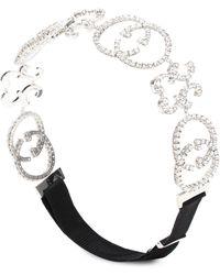 Gucci - Verziertes Haarband mit GG-Logo - Lyst