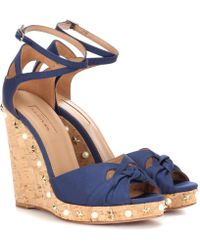 Aquazzura - Harlow Wedge 115 Wedge Sandals - Lyst