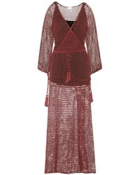 Anna Kosturova - Mesh Cotton Maxi Dress - Lyst