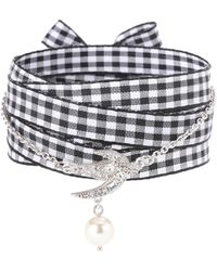 Miu Miu - Embellished Silver Bracelet - Lyst