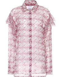 Huishan Zhang - Printed Silk Blouse - Lyst