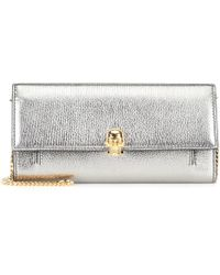 Alexander McQueen - Wallet On Chain Leather Shoulder Bag - Lyst