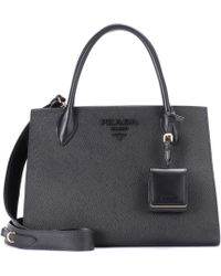 Prada Saffiano Leather Tote - Black