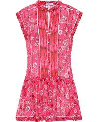 Poupette - Exclusive To Mytheresa – Honey Printed Minidress - Lyst