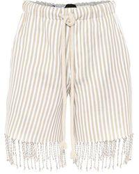 Loewe - X Paula's Ibiza - Shorts in cotone a righe - Lyst