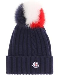 e94dbdec6 Lyst - Moncler Bobble Top Beanie in Black
