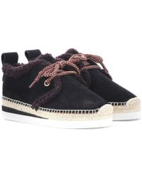 See By Chloé - Suede Derby Espadrilles - Lyst