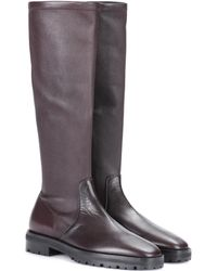 The Row - Fiona Leather Boots - Lyst