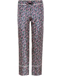 Moncler - Silk Trousers - Lyst