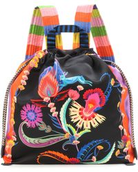 Etro - Floral-printed Satin Backpack - Lyst