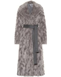 Stella McCartney - Belted Faux Fur Coat - Lyst