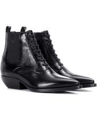 Saint Laurent - Theo 40 Leather Chelsea Boots - Lyst