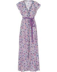 Poupette - Ola Floral Wrap Dress - Lyst