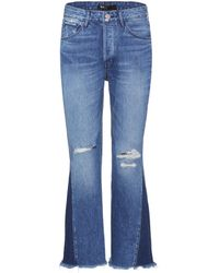 3x1 - Higher Ground Gusset Cropped Jeans - Lyst