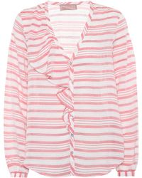 81hours - Fan Linen-blend Shirt - Lyst