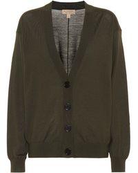 9bb94d998d78 Burberry Brit V-neck Merino Wool Cardigan in Gray - Lyst