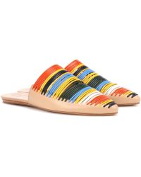 Tory Burch - Sienna Leather Slippers - Lyst