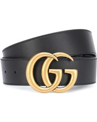 ca13c778d43 Lyst - Gucci Studded Leather Belt in Black
