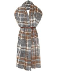 Brunello Cucinelli - Plaid Alpaca And Wool Scarf - Lyst