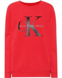 Calvin Klein Jeans - Printed Cotton Jersey Sweater - Lyst