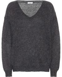 Brunello Cucinelli - Metallic Mohair-blend Sweater - Lyst