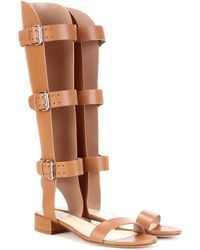 Francesco Russo - Leather Gladiator Sandals - Lyst