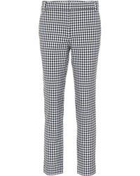 Tibi - Beatle Gingham Cropped Pants - Lyst
