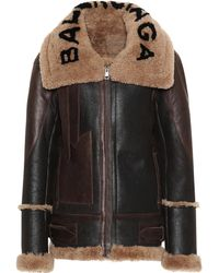 Balenciaga - Shearling-lined Leather Jacket - Lyst