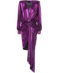 Alexandre Vauthier - Asymmetrical Lamé Dress - Lyst