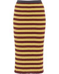 Marni - Striped Cotton-blend Skirt - Lyst
