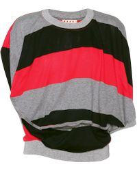 Marni - Striped Cotton Top - Lyst