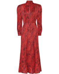 Alessandra Rich - Leopard Silk Jacquard Dress - Lyst