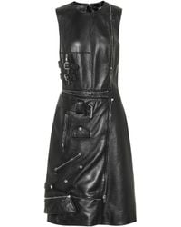 Alexander McQueen - Leather Dress - Lyst