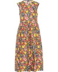 Marni - Floral Cotton Midi Dress - Lyst