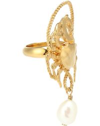 Givenchy - Pearl Pendant Ring - Lyst