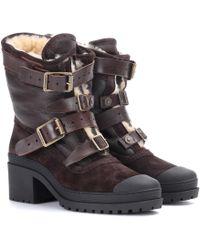 Burberry - Dukesbridge Fur-lined Suede Ankle Boots - Lyst