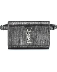Saint Laurent - Kate Metallic Suede Belt Bag - Lyst 2ace3030d3ba2